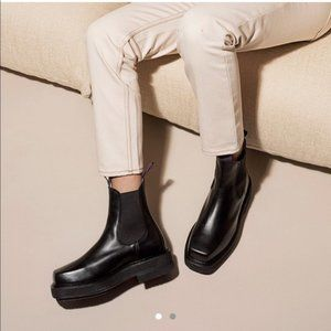 Eytys Black Platform Square Chelsea Boots